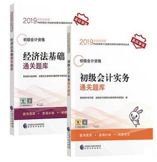 2019年度全国会计专业技术资格考试辅导系列丛书:初级会计实务+经济法基础(通关题库)共2本