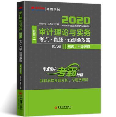 2020全国审计专业技术资格考试辅导用书科目二:审计理论与实务 考点・真题・预测全攻略(初级、中级通用)